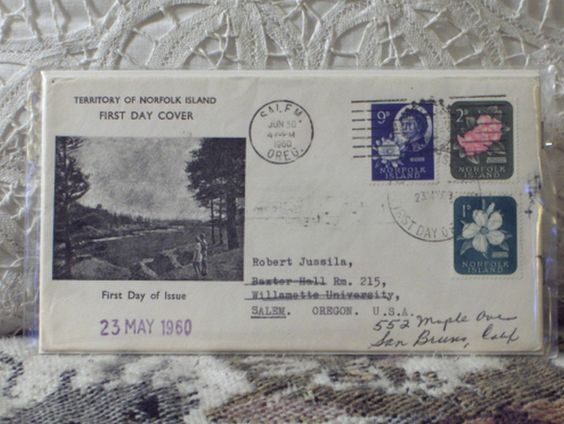 http://ajunkeeshoppe.blogspot.com/  First Day Issue / Cover - Stamp - Territory Norfolk Island 1960 8ozP725B4HP1208