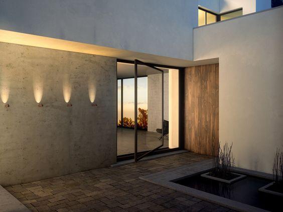 Lámpara de pared de metacrilato con luz directa indirecta bamboo ...