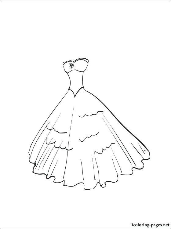 Evening Dress Coloring Page Coloring Pages Dresses Coloring Pages Coloring Pages For Girls Coloring Pages Color