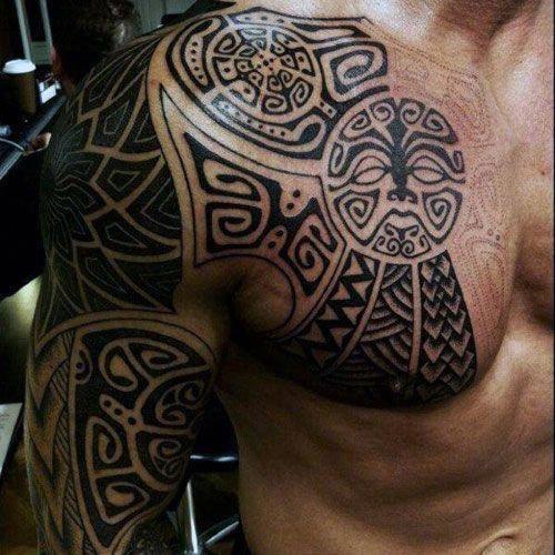 Badass Arm Shoulder Chest Tattoos Best Shoulder Tattoos For Men Find Cool Shoulder Tattoo Designs And I Tribal Tattoos Mens Shoulder Tattoo Tattoos For Guys