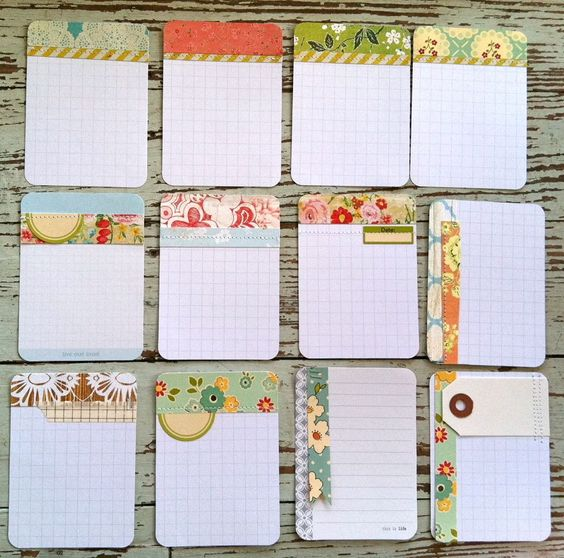 There is so much eye candy and inspiration here it's ridiculous.     Mish Mash: Handmade Project Life Journaling Cards...