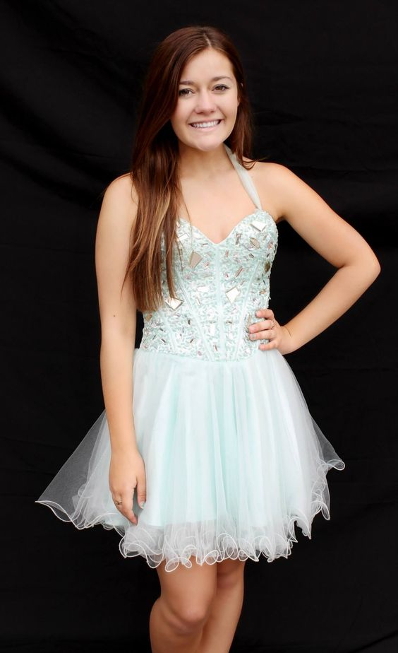 Mint short homecoming dress! Available for rent at Bling It On ...