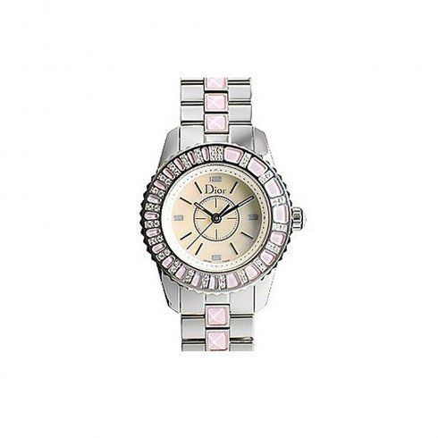 Pre Owned Watches Ladies Dior Christal Soft Pink Quartz Watch