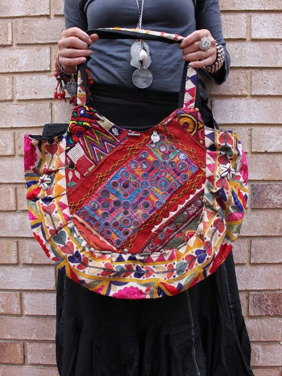 Gipsy Dreaming Bag, upcycled antique embroidery ethically made www.beej.com.au