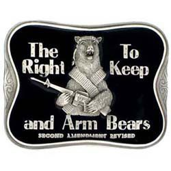American Craftsmanship The Right To Keep and Arm Pewter Belt Buckle