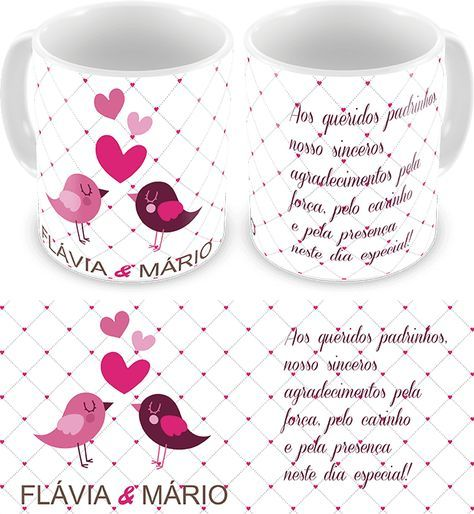 Caneca Personalizada Casamento Padrinhos Cod 1131 Canecas