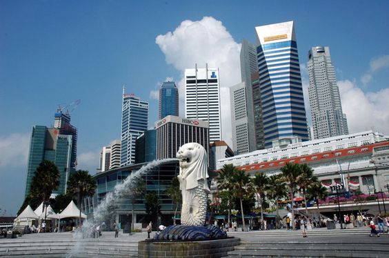 Tượng sư tử biển - biểu tượng của Singapore
