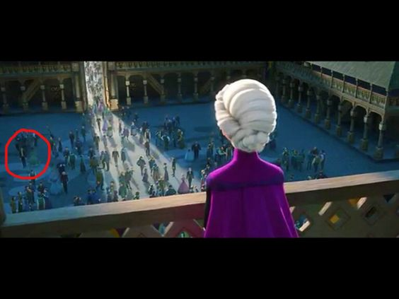 Tiana and Naveen in Frozen