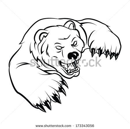 Animals For > Grizzly Bear Face Drawing | Drawing Ideas ... Bear Face Drawing
