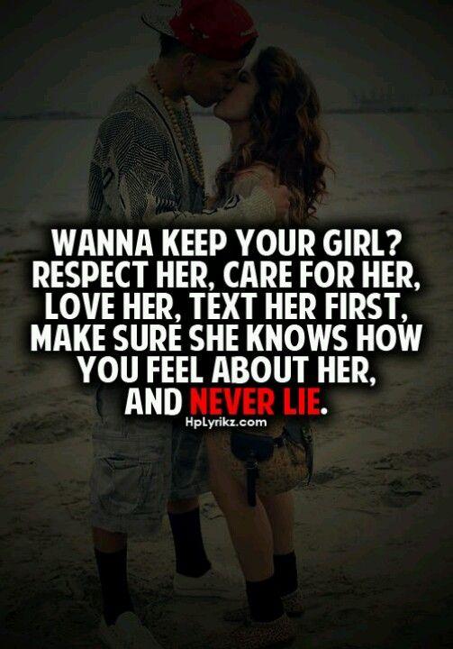 keeping a girl..