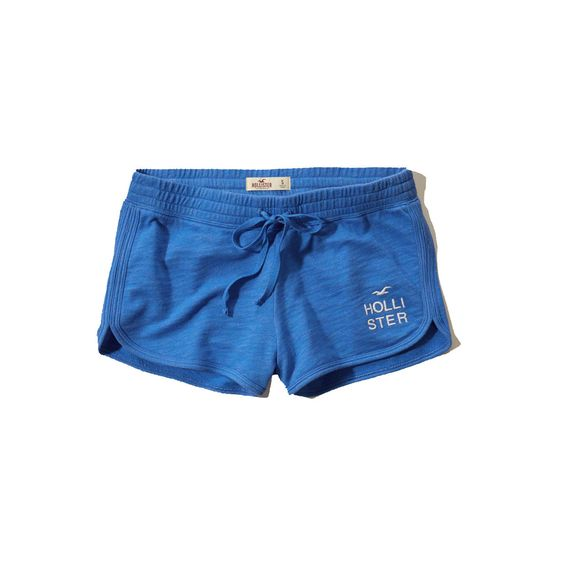 Hollister Womens Curved Hem Athletic Shorts Blue | Hollister ...
