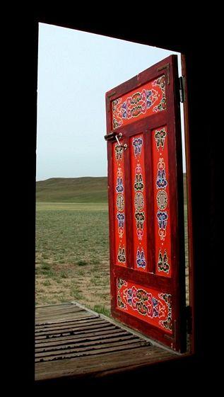 Ger Door, Mongolia photography by John Lander