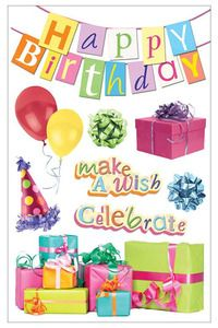 Birthday > Happy Birthday 3D Stickers - Paper House: Stickers Galore