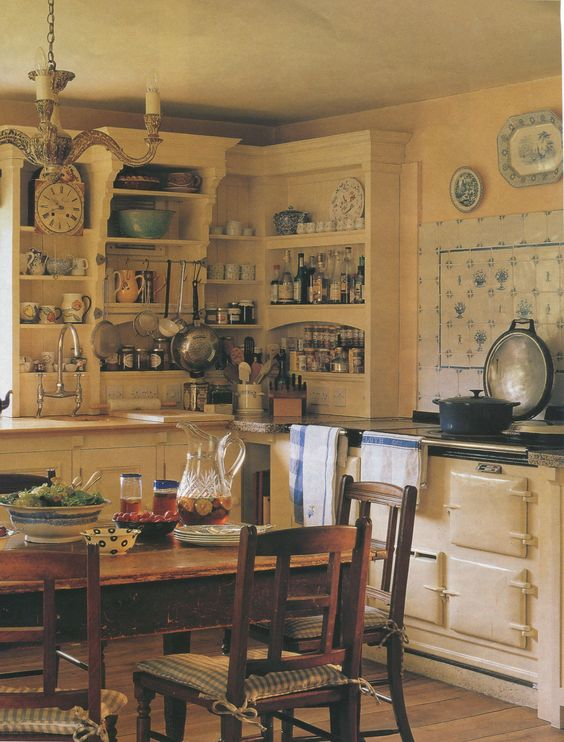 English country cottage kitchen from traditional home Home and cottage magazine