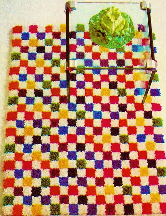 Checked Latch-Hook Rug PDF Latch-Hook Pattern by MomentsInTwine