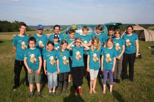 Die Gruppe des Nationalparks Vorpommersche Boddenlandschaft genießt die letzten Sonnenstrahlen