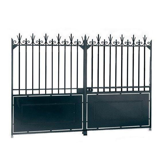 Portail battant acier mod le a avec festonnage portails for Portail en fer lapeyre