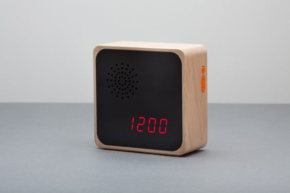 Alba Alarm Clock - a smart little clock with a dedicated iphone app and minimal good looks. $150