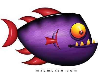 Cartoon purple and fish on pinterest for Cartoon fish pictures