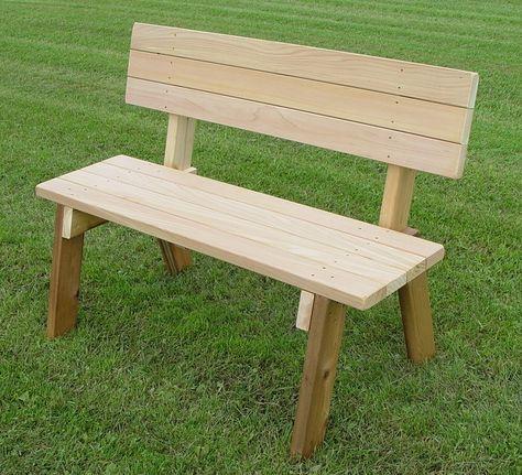 Wood Bench Outdoor, Cedar Park Furniture