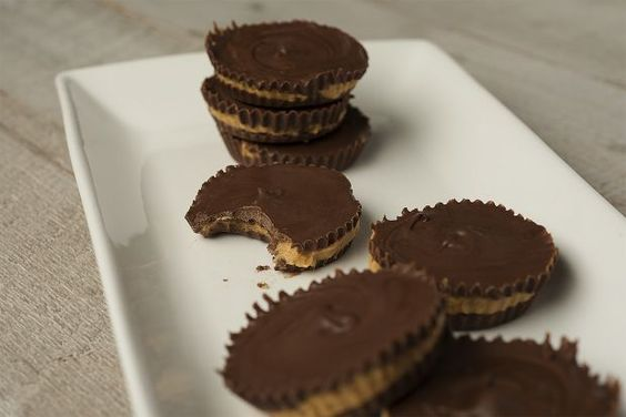 Chocolate Peanut Butter Bourbon Cups by foodrepublic: Even in a world of kale and quinoa sometimes...