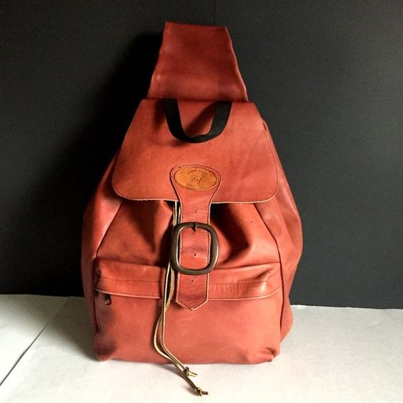 XLarge Slouch Leather Single Strap Crossbody Sling Backpack