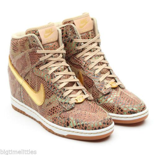 on sale f5240 023d8 ... Nike Wmns Dunk Sky Hi YOTS QS Gold Year of The Snake Wedge Hidden Heel  SIZE . ...