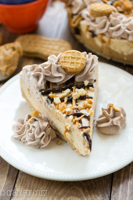 No Bake Frozen Peanut Butter Cheesecake (nutter butter crust) | Recipe ...