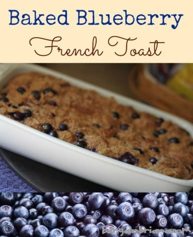 Baked Blueberry French Toast Recipe - Great for Back to School!