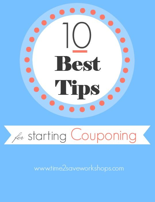 10 best tips for starting couponing.