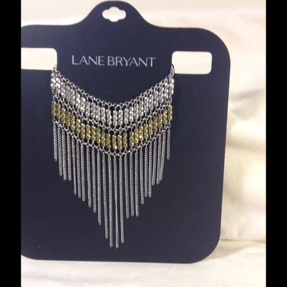 BOGO free Woman's necklace Gorgeous woman's gold tone and silver tone fringe necklace Lane Bryant Jewelry Necklaces