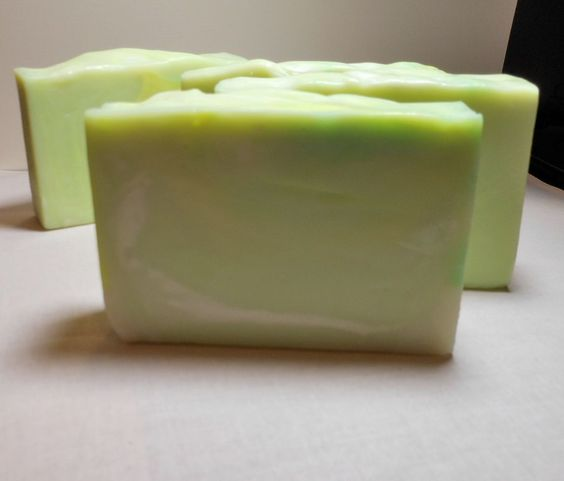 Cool Citrus Basil Handcrafted Soap made with olive oil and avocado oil from the Mermaid Apothecary.com
