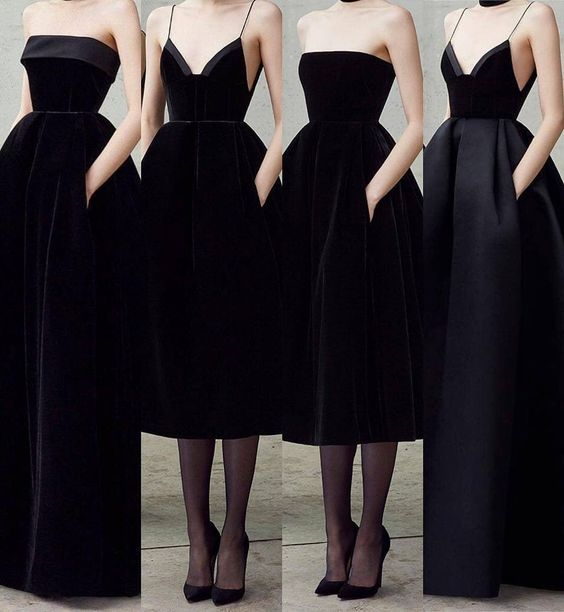 Simple and gorgeous black dresses by Alex Perry.""