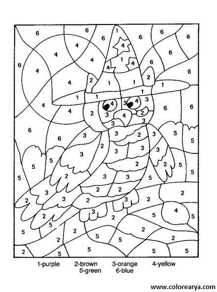 Dibujos para colorear que tengan numeros - Imagui