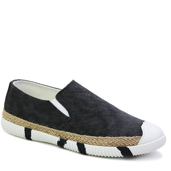 Concise Elastic and Weaving Design Men's Casual Shoes #men #shoes #fashion #style