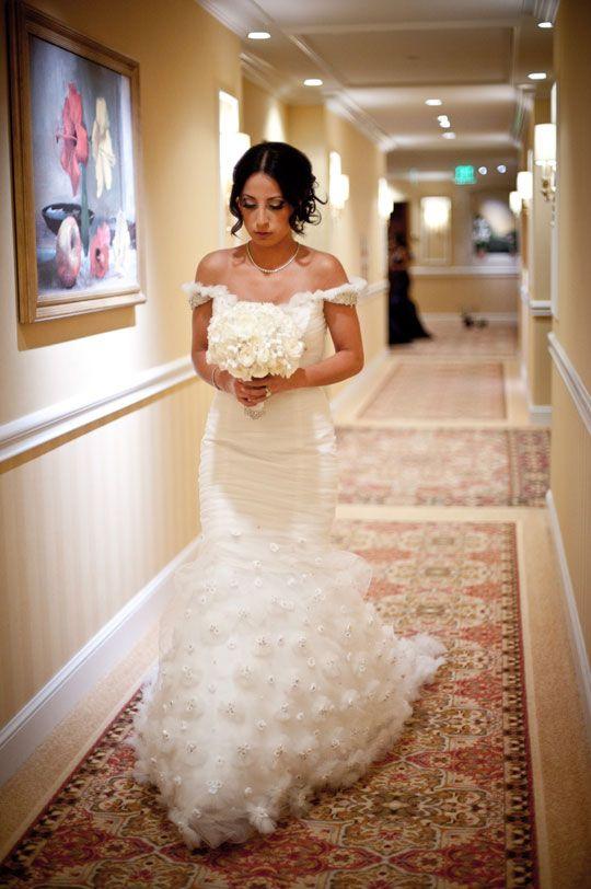 Lovella bride Sherrie in @Ines Di Santo wedding dress