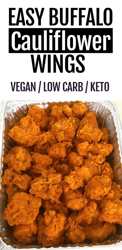 Keto Crispy Baked Buffalo Cauliflower Wings