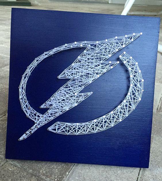 Made to order Tampa Bay Lightning String Art!
