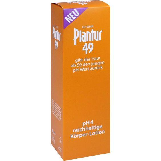 PLANTUR 49 pH4 Körper-Lotion:   Packungsinhalt: 200 ml Lotion PZN: 11517657 Hersteller: Dr. Kurt Wolff GmbH & Co. KG Preis: 7,33 EUR…