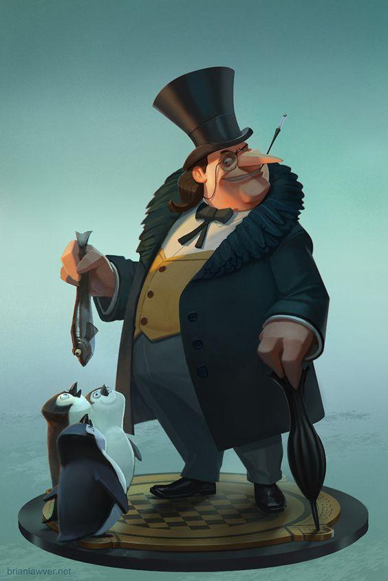 The Penguin (statue design) by lawvalamp tags : fanart , art ,design , penguin , batman , dc