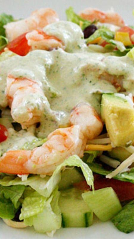 Mexican Shrimp Cobb Salad ~ A beautifully layered salad with shrimp ...