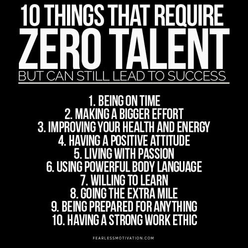 10 Things That Require Zero Talent And Still Determine Your