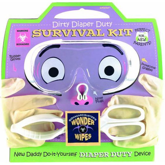 Dirty Diaper Survival Kit - A Great Gag Gift For A New Dad!