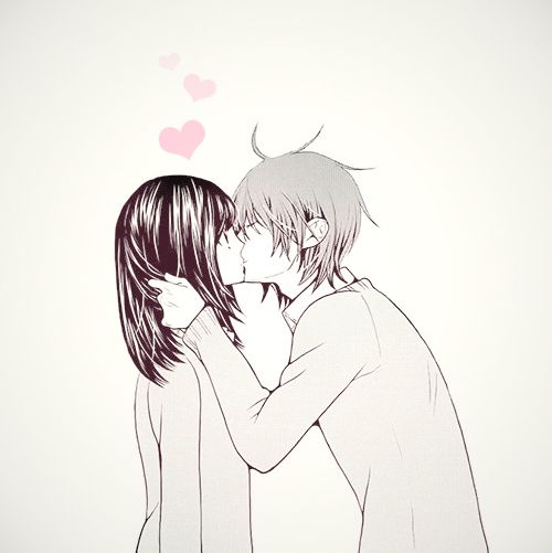 anime, cute, kawaii, love, manga, kiss, haru no ame