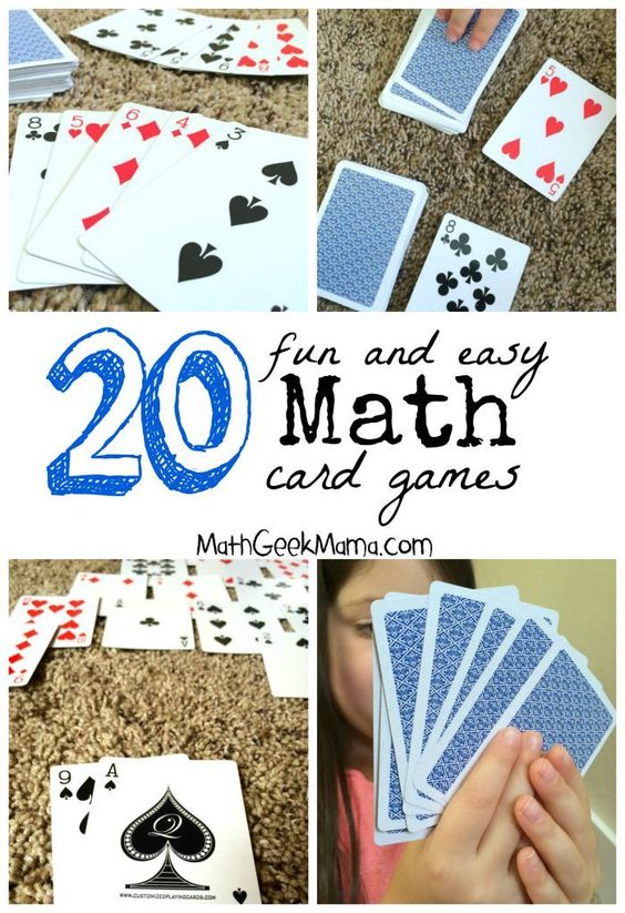 A great collection of fun math card games! These are easy, and in most cases all you need is a deck of cards!