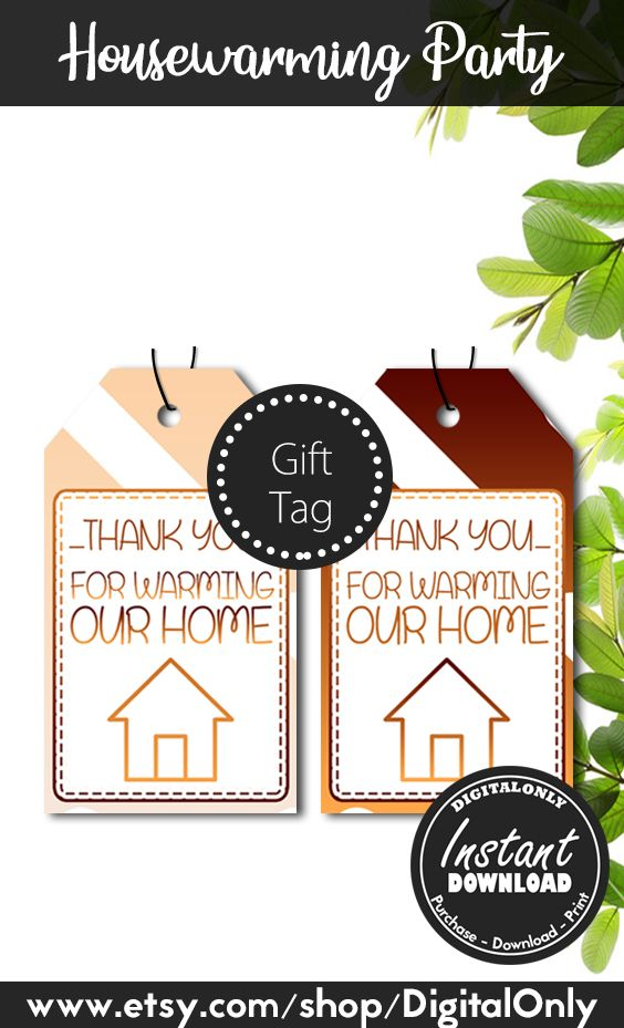 Housewarming Party Gift Tag Instant Download Thank You For Etsy House Warming Party Gift House Warming Gifts House Warming