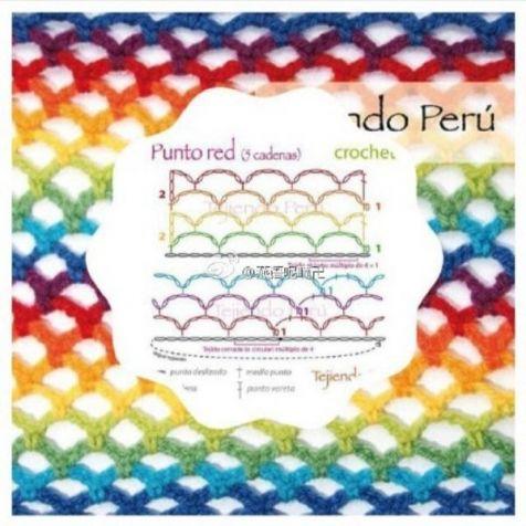 Разноцветные узорчики крючком / Вязание крючком / Вязание крючком для начинающих