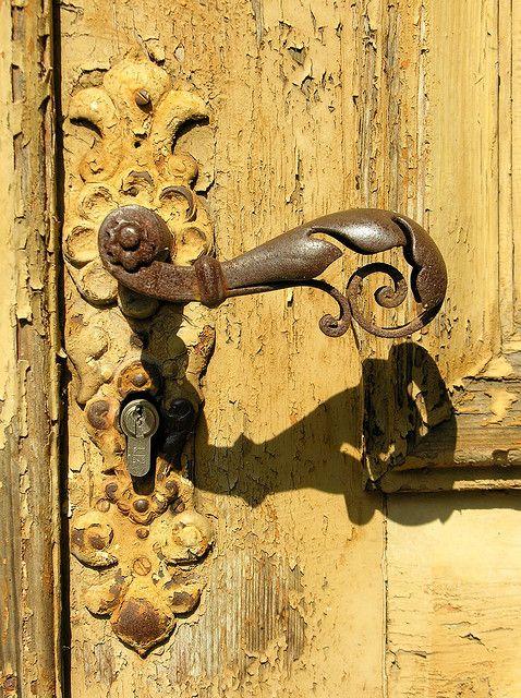 Love this color doors portals hardware pinterest for Beautiful door handles