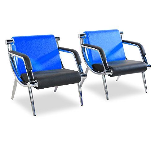 Bestmart Inc Office Reception Chairs Waiting Room Visitor Guest Sofa Executive Side Chair Sofa Seat Pu Leat Blue Sofa Office Reception Chair Reception Chair