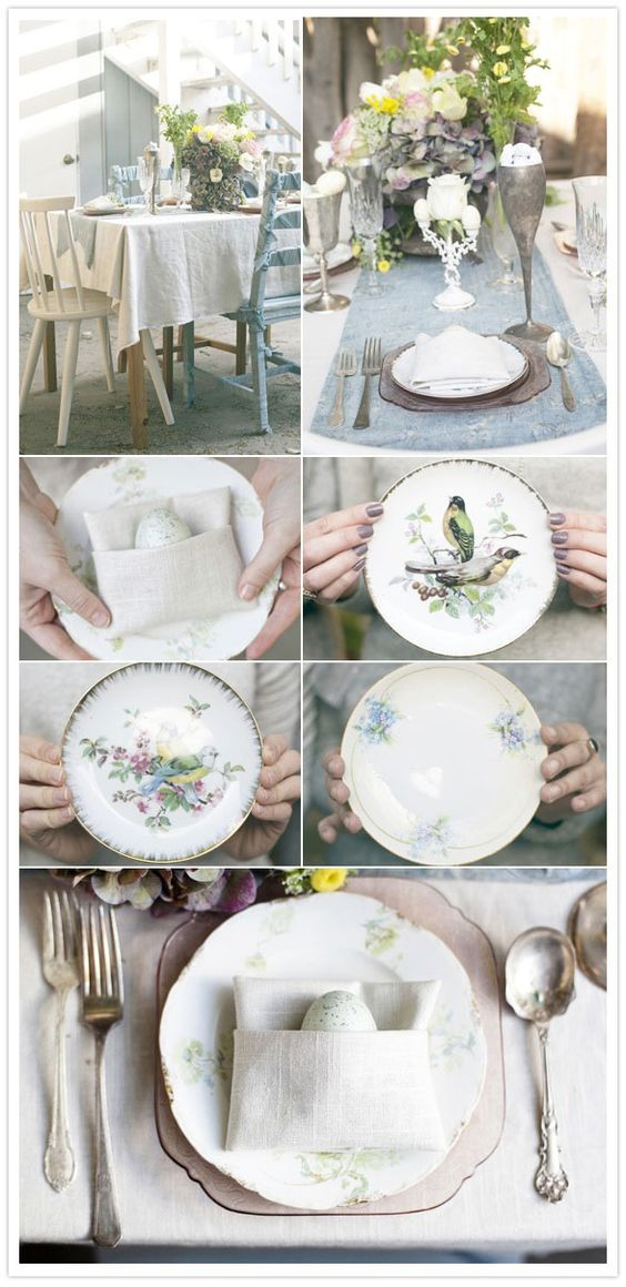 #easter, party, vintage, rustic, shabby schic, table decor,